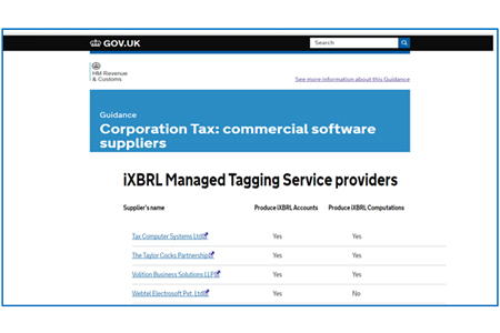 software for Corporation Tax Filings