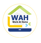 WAH - Work At Home Logo